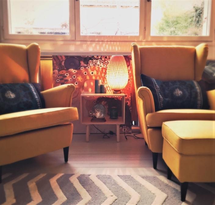 Cabinet psychothérapeute - Teintes chaleureuses