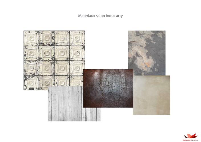 Matériaux salon Indus Arty
